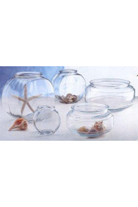 Anchor Hocking 4263 Goldfish Bowl-Drum, 2 gallon