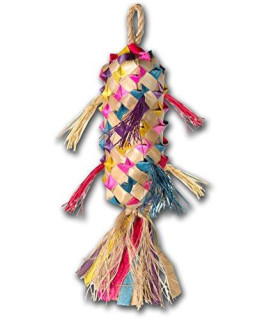 "Planet Pleasures Spiked Pinata Small 7"" Natural Bird Toy"