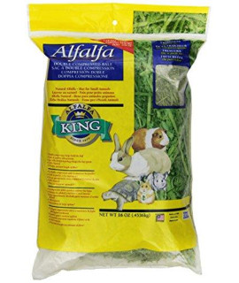 Alfalfa King Double Compressed Alfalfa Hay Pet Food Treat, 12 by 9 by 2-Inch