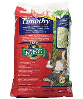 Alfalfa King Double Compressed Timothy Hay Pet Food, 12 by 9 by 5-Inch