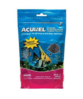 Acurel LLC Economy Activated Filter Carbon Pellets Aquarium and Pond Filter Accessory, 1-Pound