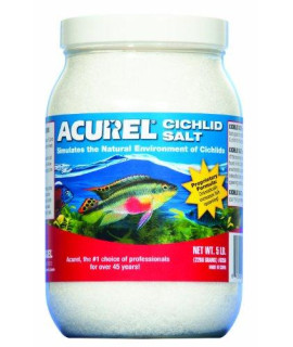 Acurel LLC African Cichlid Salt, Aquarium and Pond Water Treatment, 5-Pound
