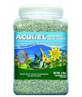 Acurel LLC Ammonia Away Green, Aquarium and Pond Filter Accessory, 170-Ounce