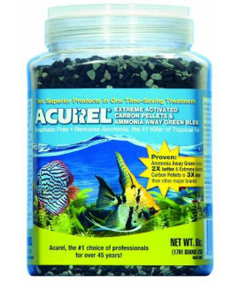 Acurel LLC Extreme Activated Carbon Pellets and Ammonia Away Green Blend, 60-Ounce