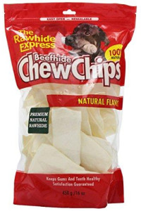 The Rawhide Express Natural Rawhide Strips/Chips Dog Chew, 16 oz 450 g