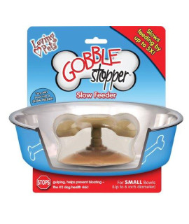 Loving Pets Gobble Stopper Slow Pet Feeding Supplies for Dogs, Small