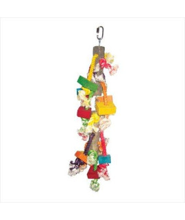 A and E Cage Co. Medium Wood and Blocks Bird Toy