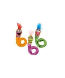 Bamboo FAT CAT 650037 Classic Springy Worms Cat Toy -  1 pack 2 count