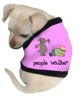 "Pet Tease ""People Walker"" Dog Tank, Extra Large, Pink with Black Trim"