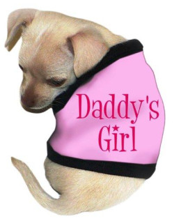 "Pet Tease ""Daddys Girl"" Dog Tank, Extra Large, Pink"