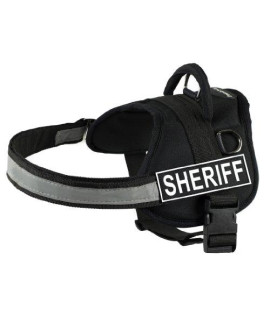 DT Works Harness, Sheriff, Black/White, X-Small - Fits Girth Size: 21-Inch to 26-Inch