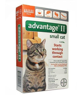 Advantage II Topical Flea Treatment for Cats 5-9 lbs. 6-doses