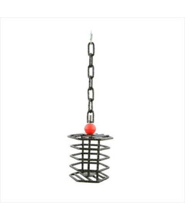 Small Hex Bird Toy Feeder Color: Black