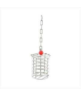 Large Round Bird Toy Feeder Color: Platinum