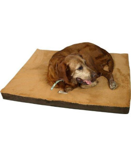 Armarkat Memory Foam Orthopedic Pet Bed Pad in Mocha and Brown, 24-Inch by 18-Inch by 2-Inch