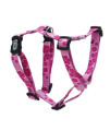 Dogit Adjustable Harness, 3/4-Inch by Neck: 16 by 23-Inch by Chest: 20 by 28-Inch, Medium, Aloha, Pink