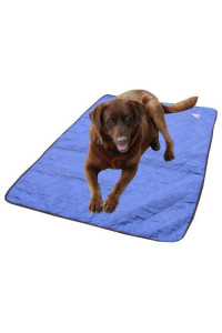 HyperKewl Evaporative Cooling Dog Pad, Large, Blue