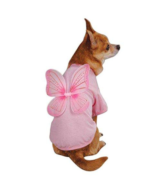 East Side Collection Polyester/Cotton Fairy Dust Dog Tee, Medium, Pink