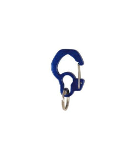 Rubit The Easy Dog Tag Curve Shape Switch Clip, Large, 1.3-Inch Diameter, Blue