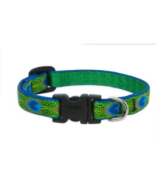 "LupinePet Originals 1/2"" Tail Feathers 8-12"" Adjustable Collar for Small Dogs"