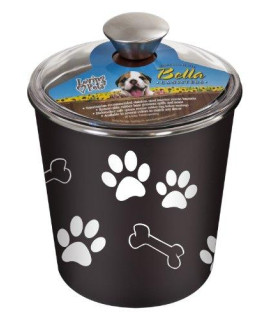 Loving Pets Bella Dog Bowl Canister/Treat Container, Espresso