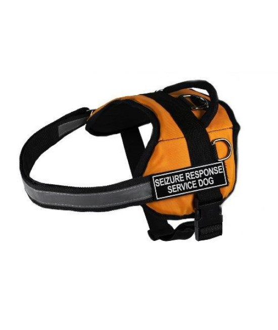 Dean & Tyler Works Seizure Response Service Dog Pet Harness, XX-Small, Fits Girth Size: 18 to 21-Inch, Orange/Black
