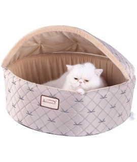 Armarkat Cat Bed, Medium, Pale Silver and Beige