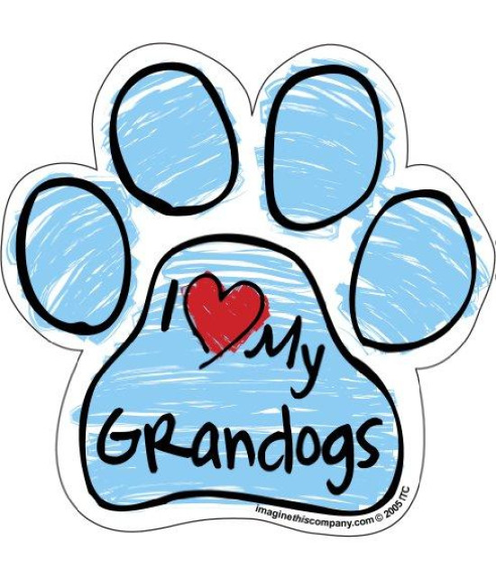 Imagine This Scribble Paw Magnet, Grandogs