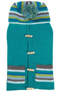 East Side Collection Bright Stripe Dog Sweater Vest, Large, Blue