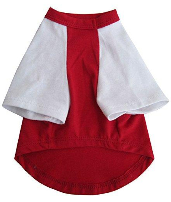 Iconic Pet Pretty Pet Top, Small, Red and White