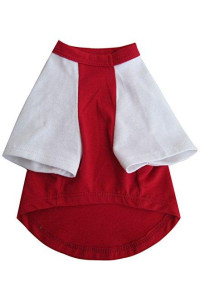 Iconic Pet Pretty Pet Top, Medium, Red and White