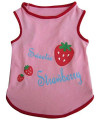 Iconic Pet Pretty Pet Top, Medium, Pink/Strawberry