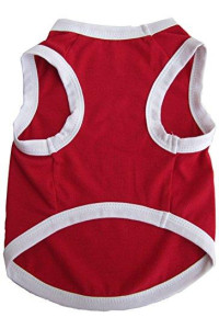 Iconic Pet Pretty Pet Tank Top, X-Small, Red