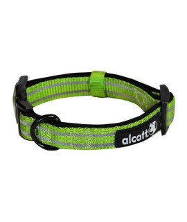 Alcott Explorer Adventure Pet Collar, Small, Green