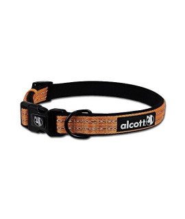 Alcott Traveler Adventure Pet Collar, Large, Orange