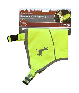 Alcott Essentials Visibility Dog Vest, Small, Neon Yellow with Reflective Accents
