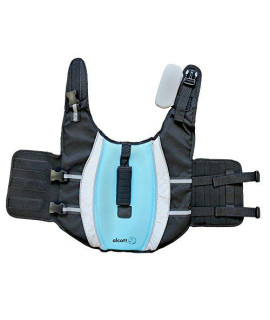 Alcott Mariner Pet Life Jacket with Reflective Accents & Support Handle, Medium, Blue