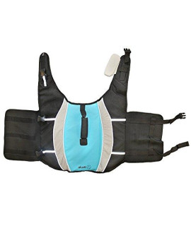 Alcott Mariner Pet Life Jacket with Reflective Accents & Support Handle, Large, Blue