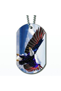 American Eagle Flag - Dog Tag Necklace