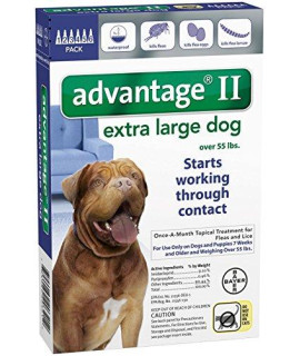 Advantage II Extra Large Dog 6-Pack