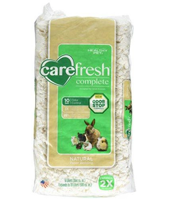 carefresh complete Ultra White Natural Pet Bedding, 10 L for Small Animals