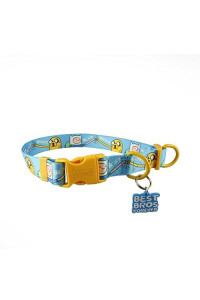 Adventure Time Best Bros! Nylon Adjustable Dog Collar (Medium)