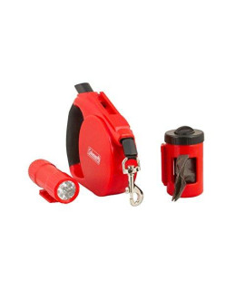 Coleman 3-in-1 Pet Retractable Leash, Red