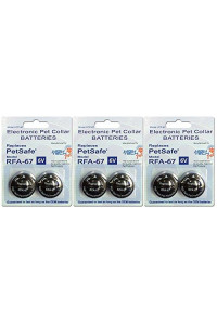 High Tech Pet RFA-67 Petsafe Compatible 6-volt Trusted Electronic Pet Collar Replacement Battery - (6) Pack