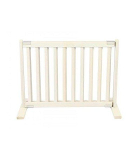 20 in. H All Wood Small Freestanding Gate in White Finish