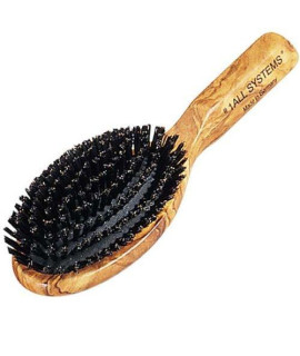 #1 All Systems Pure Boar Bristle Brush with Wooden Handle, 8-/4-Inch