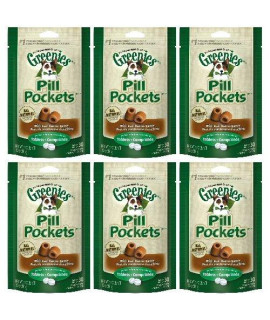 Greenies Peanut Butter Dog Pill Pockets for Tablets 1.2Lbs (6 x 3.2oz)