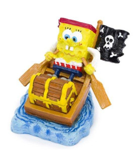 Pirate Spongebob in a Rowboat