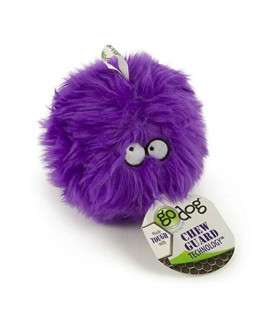 Godog Furballz Tough Plush Dog Toy With Chew Guard Technology, Purple, Small