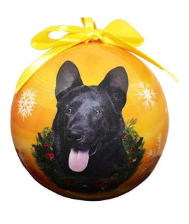 """German Shepherd, Black Christmas Ornament"" Shatter Proof Ball Easy To Personalize A Perfect Gift For German Shepherd Lovers"